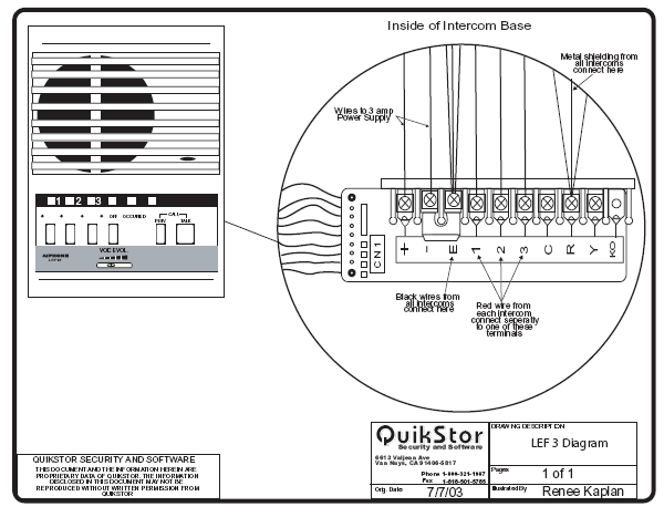 intercom wiring diagram quikstor support knowledgebase